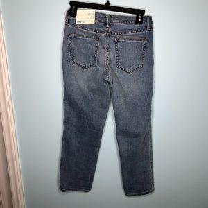 GAP Jeans - Gap Womens Mid Rise Slim Crop Jeans Medium Indigo